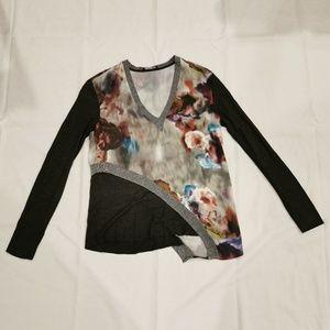 Zara | Asymmetrical Floral Long Sleeve Top